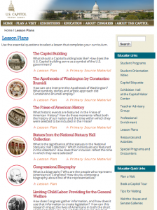 US Capitol online curricula
